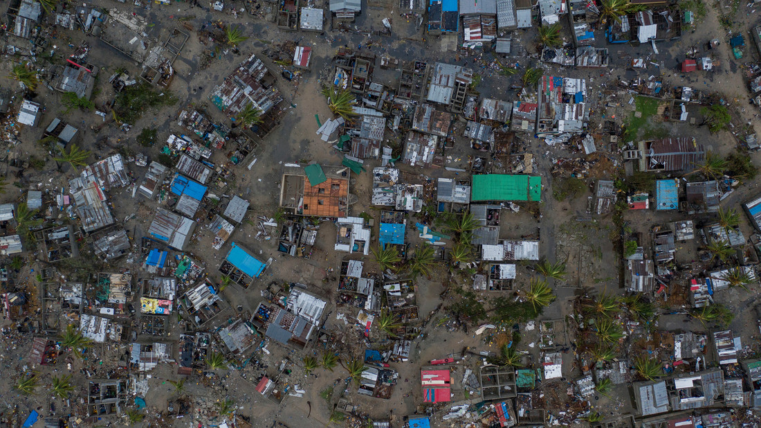 Aerial View of Cyclone Idai Aftermath