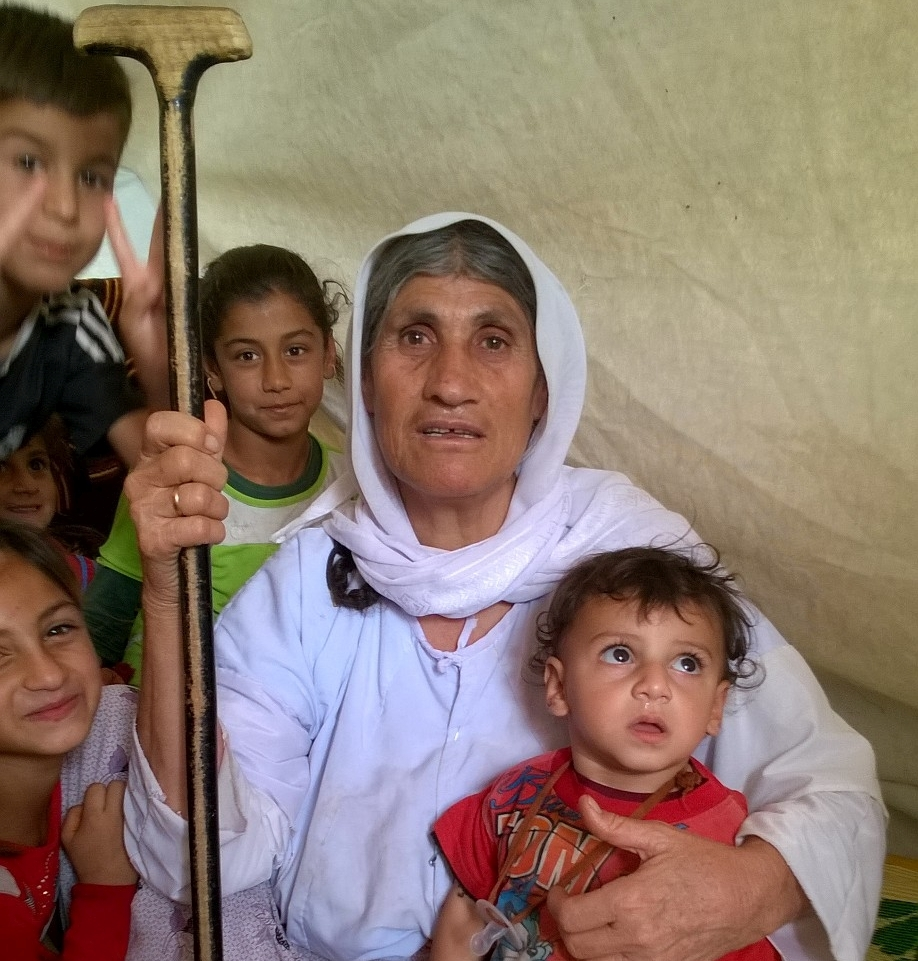 Bas and her grandchildren are among the 1.5 million displaced in Northern Iraq. Photo: Jacqueline Dürre/CARE.