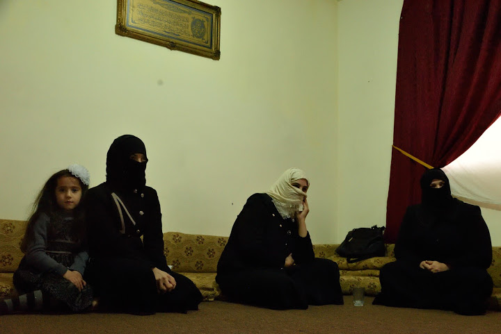 Rania, Hana and Ghosoun now meet in Jordan to exchange news about loved ones in Syria. Photo: Lucy Beck/CARE.