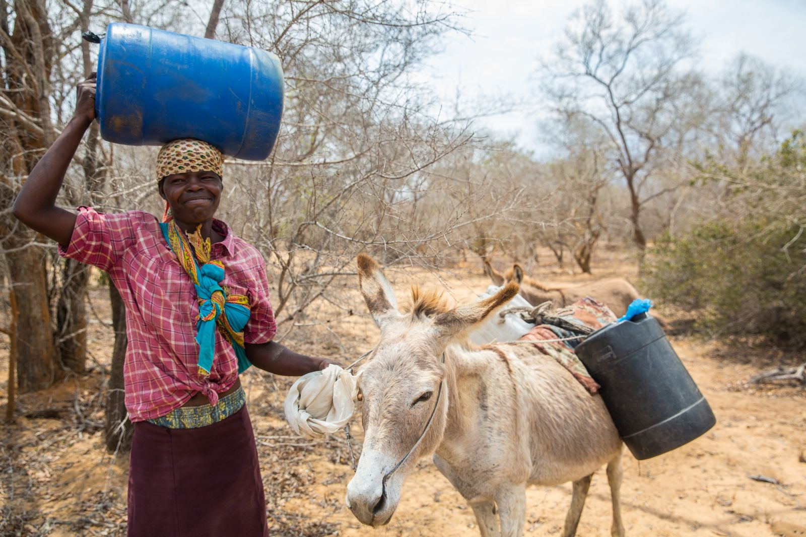 Prior to the drought, women spent up to 2 hours per day collecting water for household consumption. The extended nature of the drought has meant women have had to spend in excess of 6 hours searching for and transporting water to their homes.