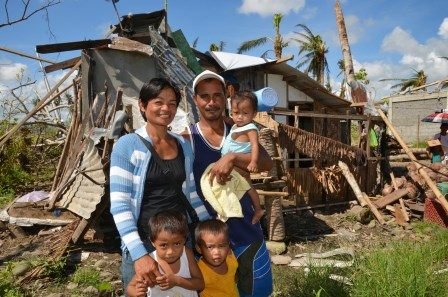 Typhoon Yolanda took away everything they owned, but not their best reason to celebrate Christmas.